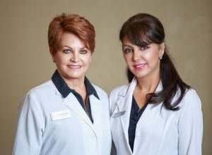 Linda Barrett, Medical Esthetician & Brigitte Javaheri, RN