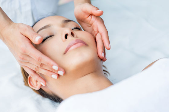 Woman Receiving A Facial Chemical Peel In Gainesville, FL