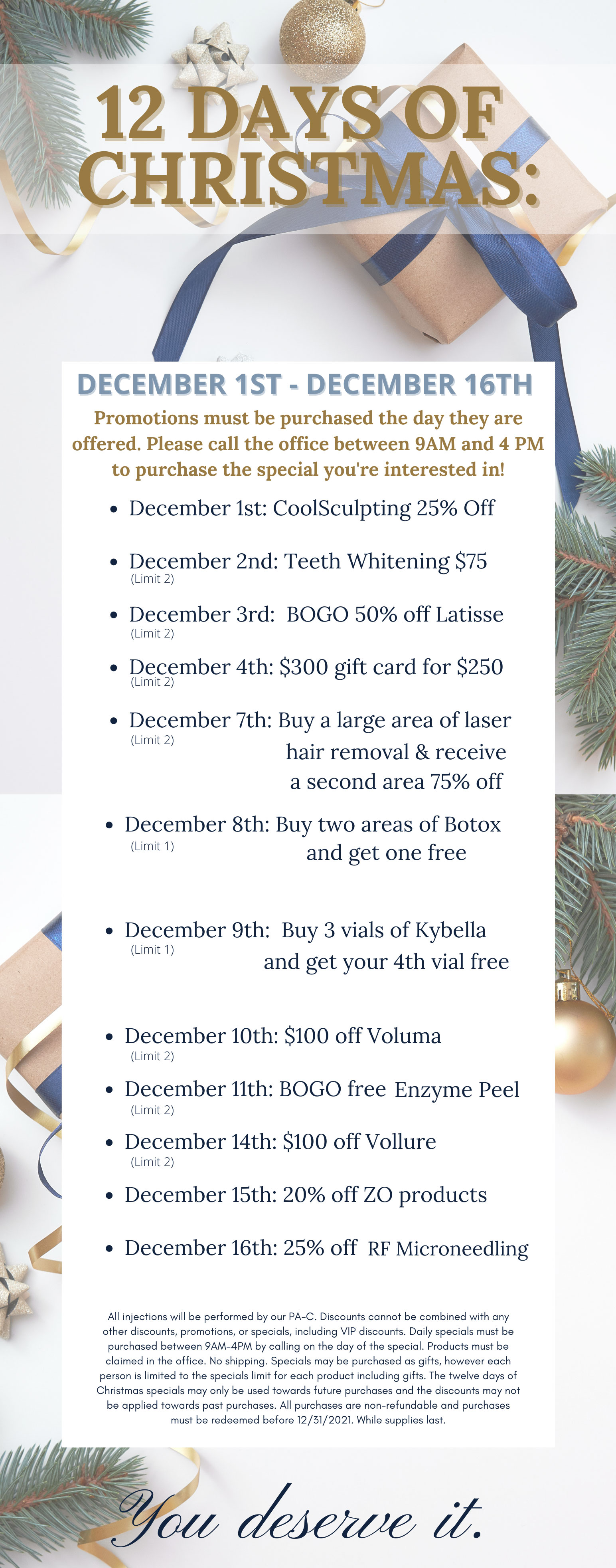 Dr. Tyrone Christmas 2020 Specials